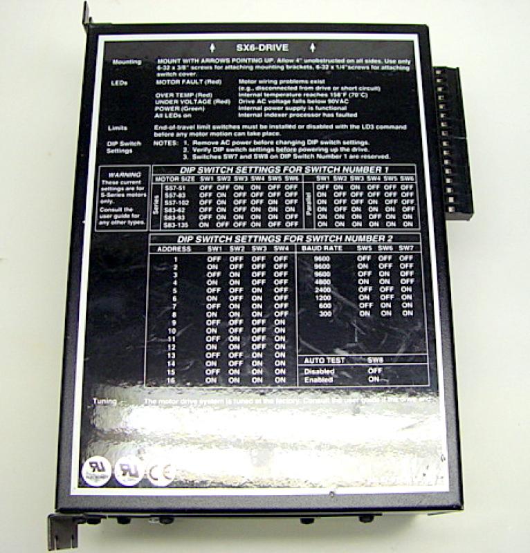 Parker Compumotor Sx6 Microstep Servo Drive Encoder Ebay