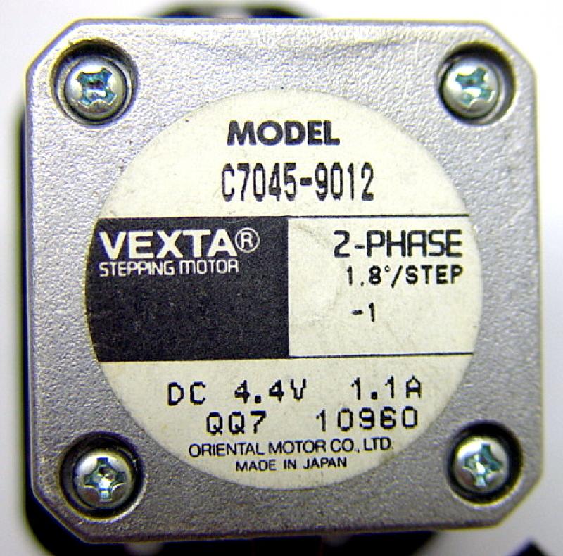 Vexta c7045 9012 2 phase stepping motor 1 8deg step 4 4v Vexta 2 phase stepping motor