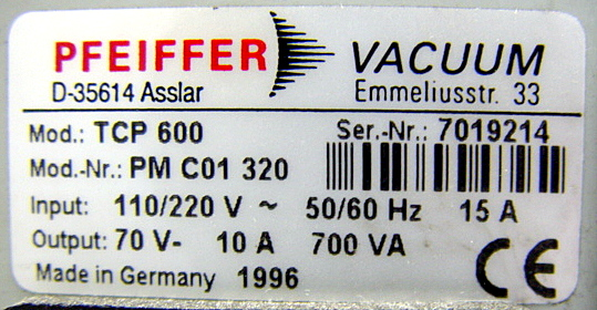 Pfeiffer,Vacuum,TCP,600,PM,C01,320,picture5