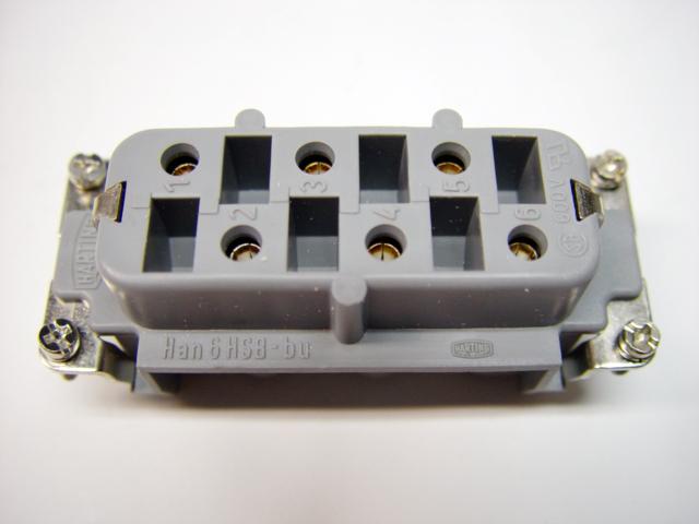 Harting Connector Socket 6 Pins